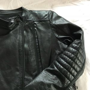KENNETH COLE Leather Moto Jacket Buttery Soft